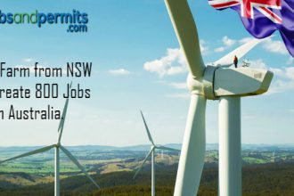wind farm creates 800 jobs in australia