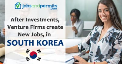 After Investments, Venture Firms create several new jobs, in South Korea