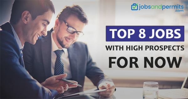 Top 8 Jobs With high prospects for now