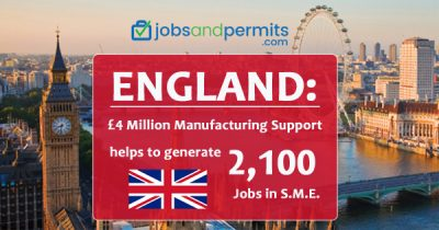 £ 4 million manufacturing support helps to generate 2,100 jobs in S.M.E